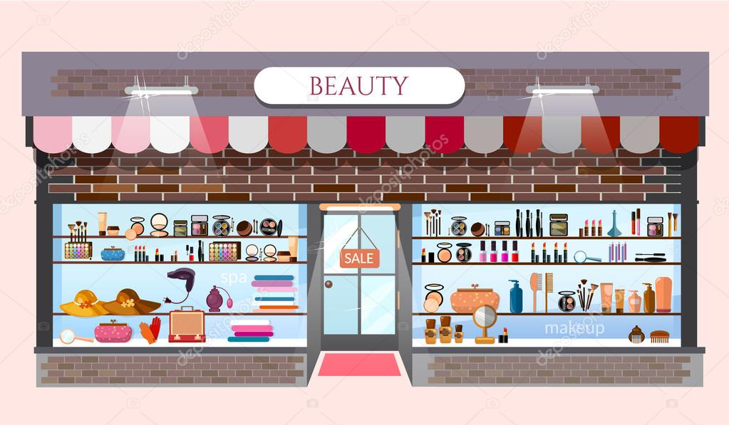Beauty Store Fashion Shop Building Showcases Fashionable
