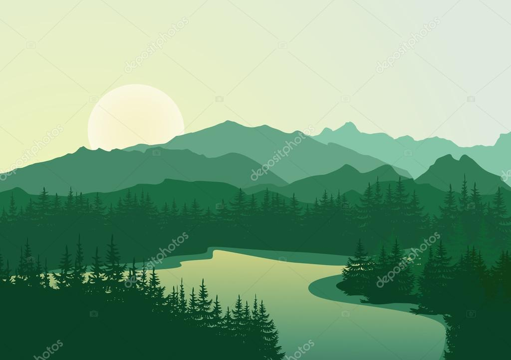 Mountains Vector Stock Images RoyaltyFree Images