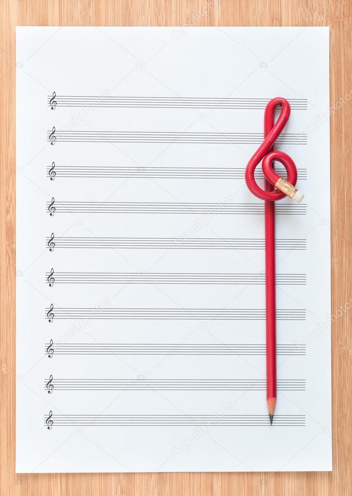 бланк нотного листа - фото 8