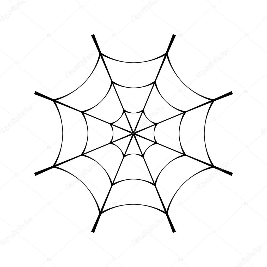 Spider web clipart black and white