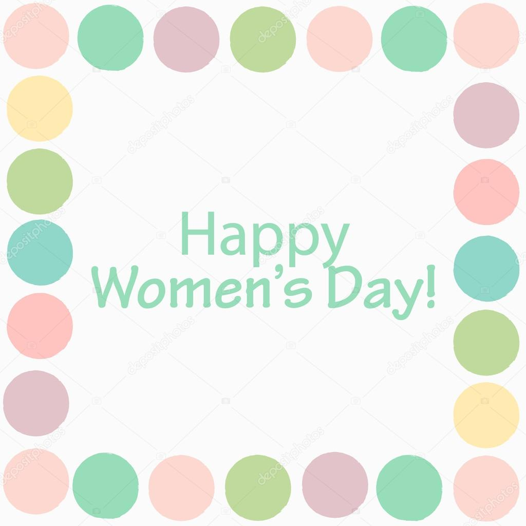 Happy International Womens Day Multicolored Greeting Card Design