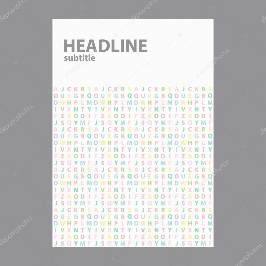 Black Book Cover Design : Cover design in a size themes school children