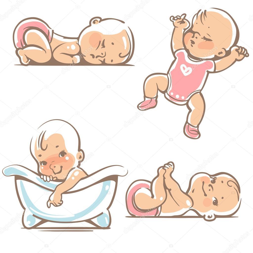 可爱的宝宝,在粉色的衣服