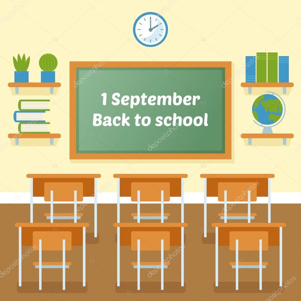 学校教室黑板矢量平面插画 图库矢量图像 169 Havroshechka 120711960