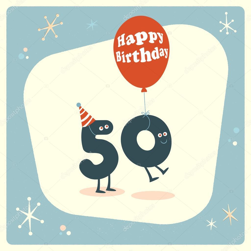 Funny 50th birthday Card — Stock Vector © RealCallahan ...