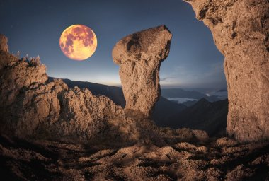 Rocks in wild mountains