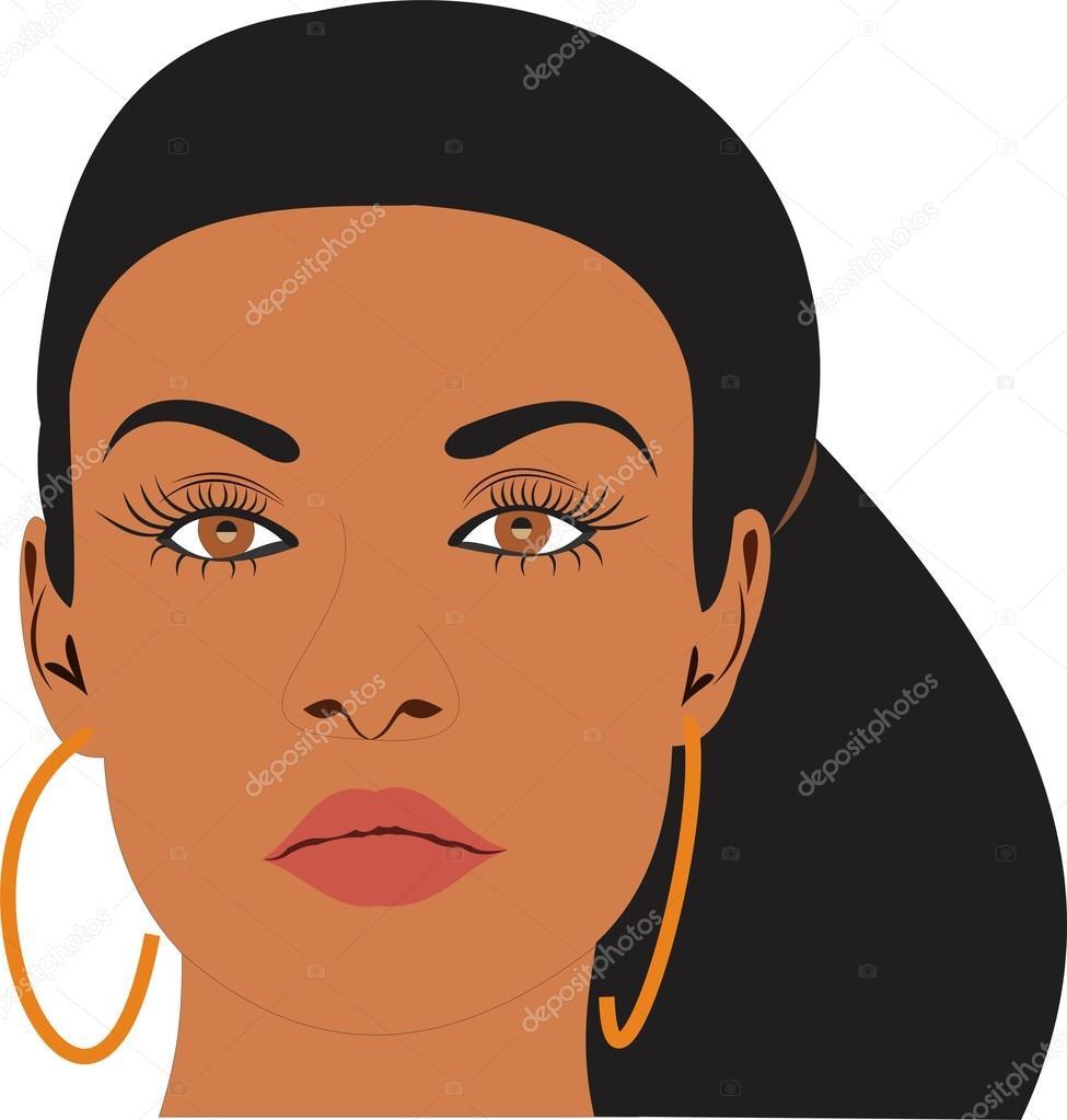 A Beautiful Cartoon Girl Face Beautiful Woman...