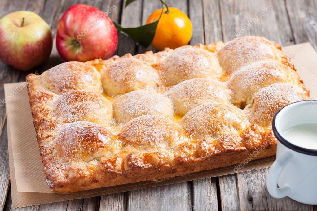Творожное тесто для пирога с яблоками рецепт