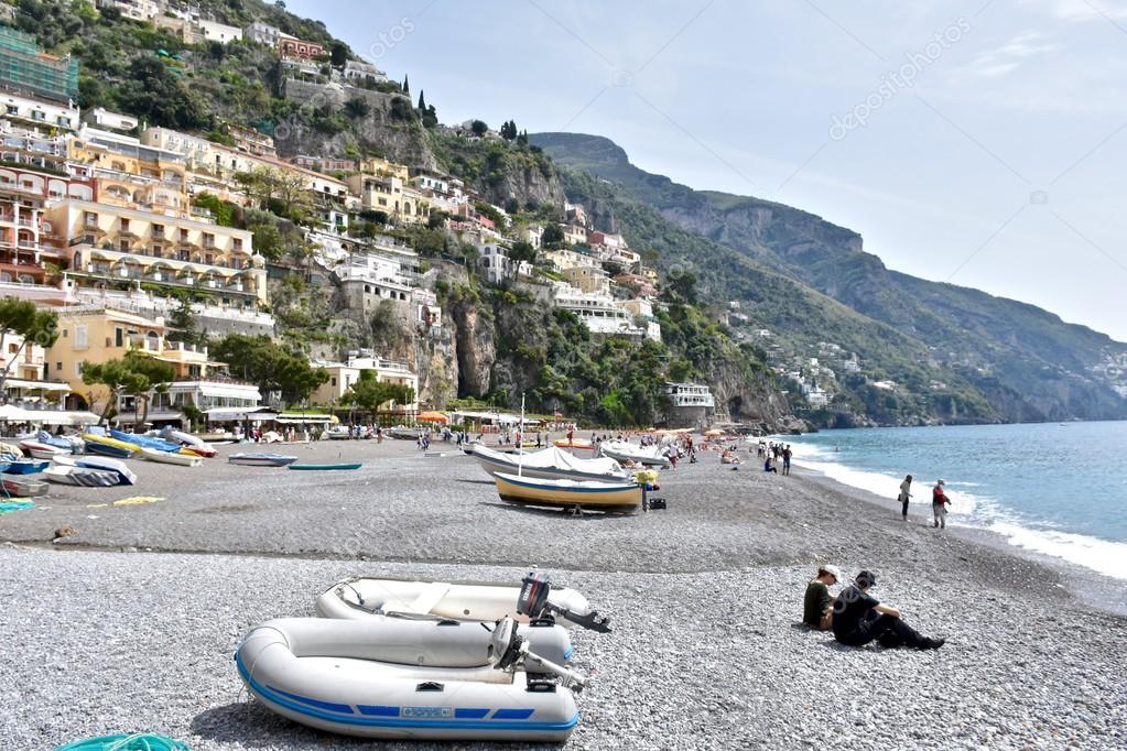 Citt costiera di positano italia foto editoriale stock for Piani domestici della carolina costiera