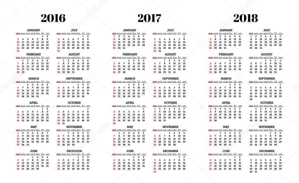 Картинка календарей на 2017-2018 год