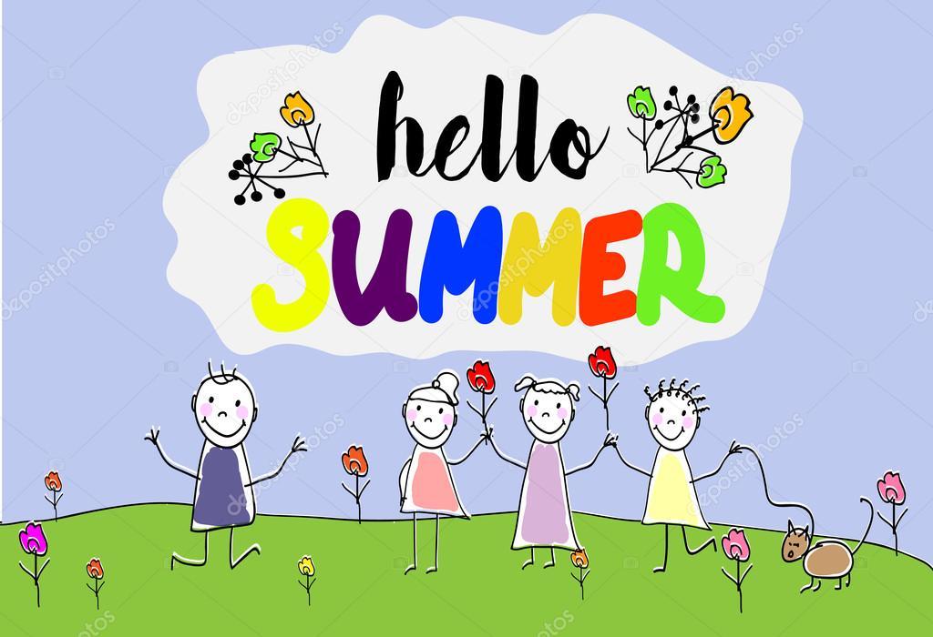 Картинки про лето нарисованные детьми