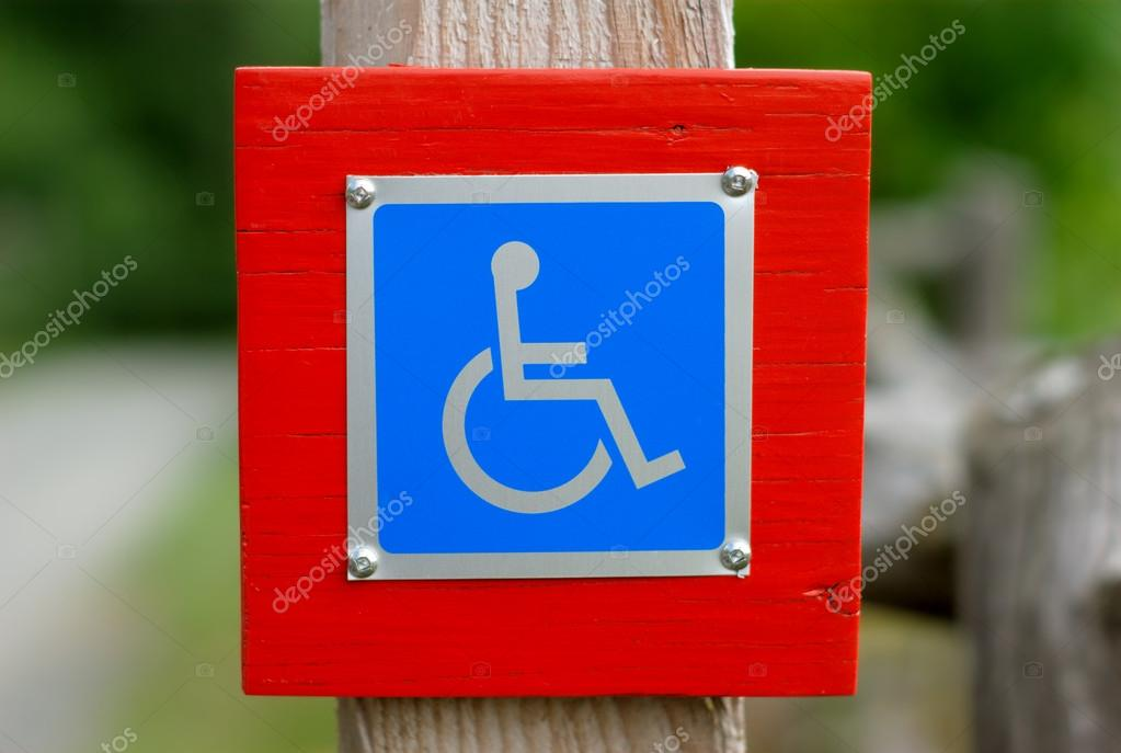 Signo De Accesibilidad Discapacitados Pictograma Azul Para