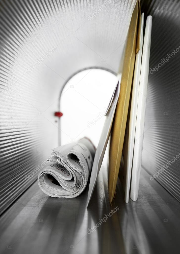 Mailbox interior and letters Stock Photo Goir 106876654