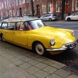 ������, ������: Old yellow Citroen on street