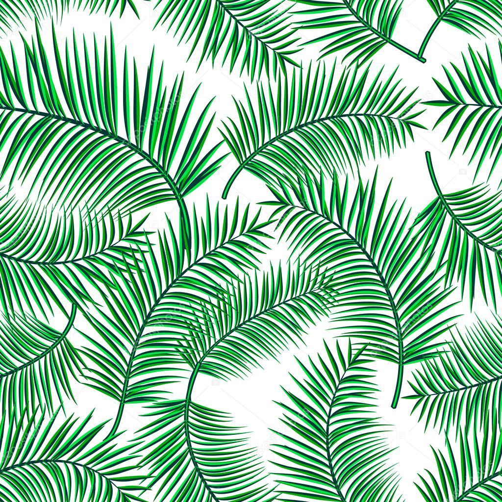 Desenho De Plantas Retro Vector Illustration Of Exotic Tropical Seamless