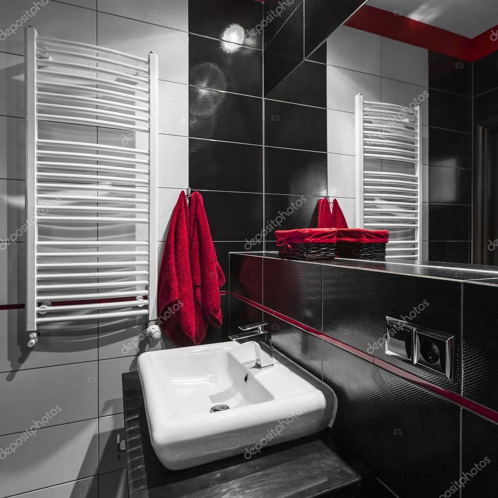 Svarta och vita badrum — Stockfotografi © in4mal #115937486