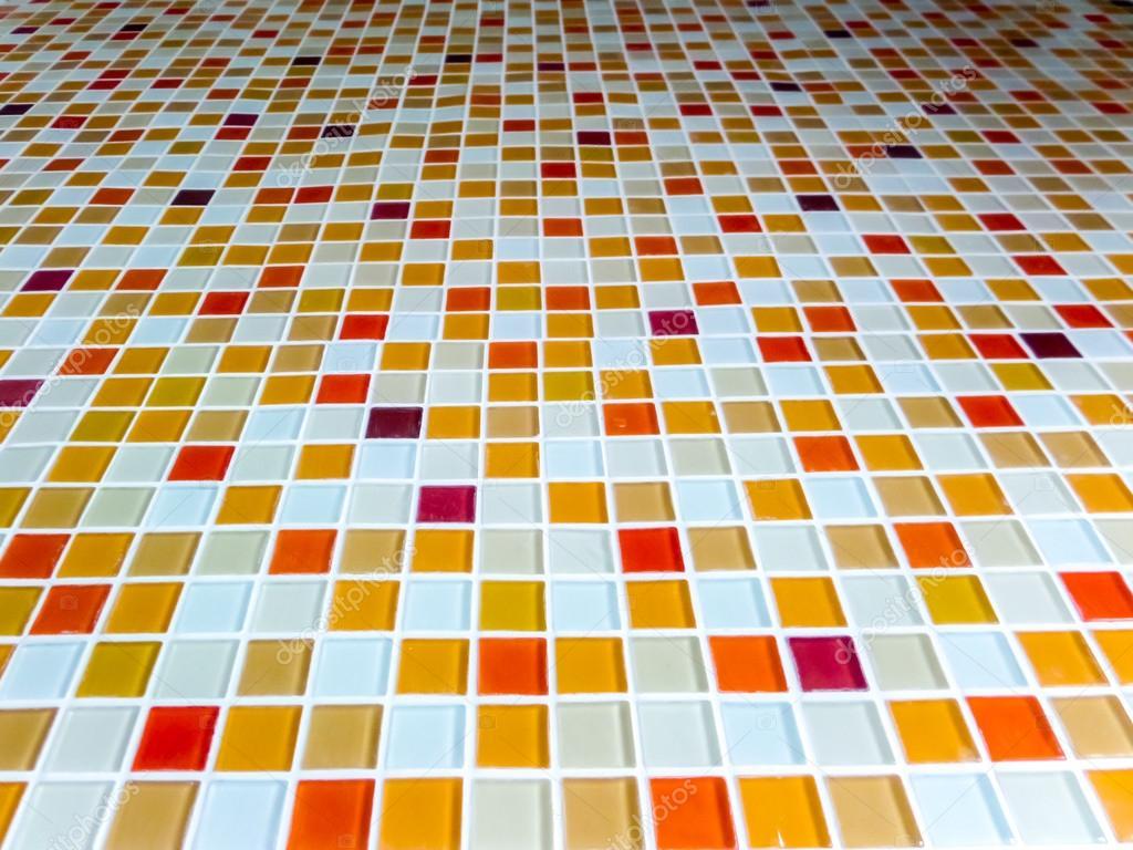 Mosaik vägg kakel lava varm ton färg — stockfotografi ...