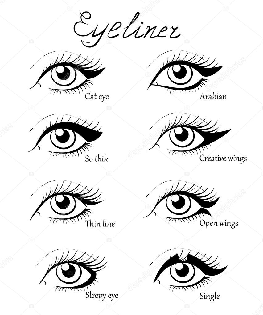 Different types of eye makeup