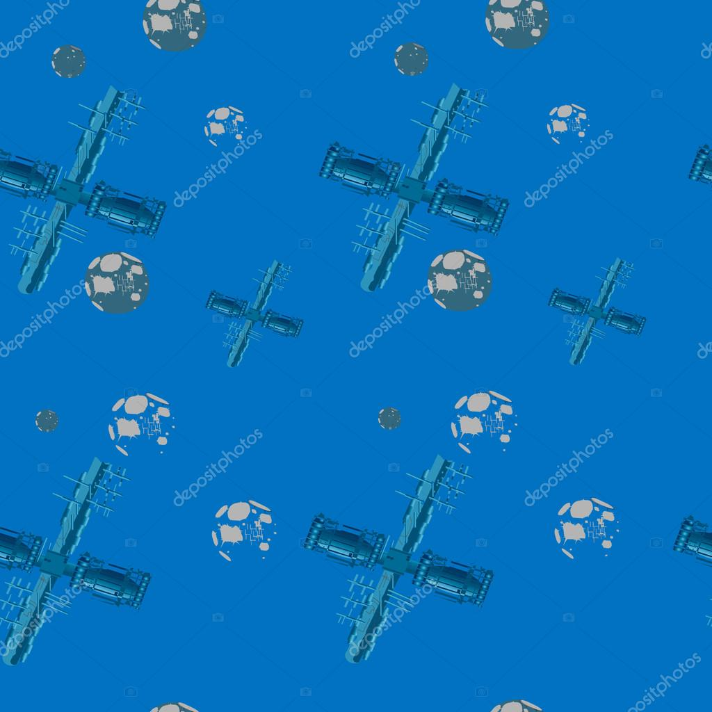 Gmail blue theme - Nice Seamless Pattern On The Theme Of Travel In Space On A Space Ship With A Blue Background Vector By Mersyriver834 Gmail Com