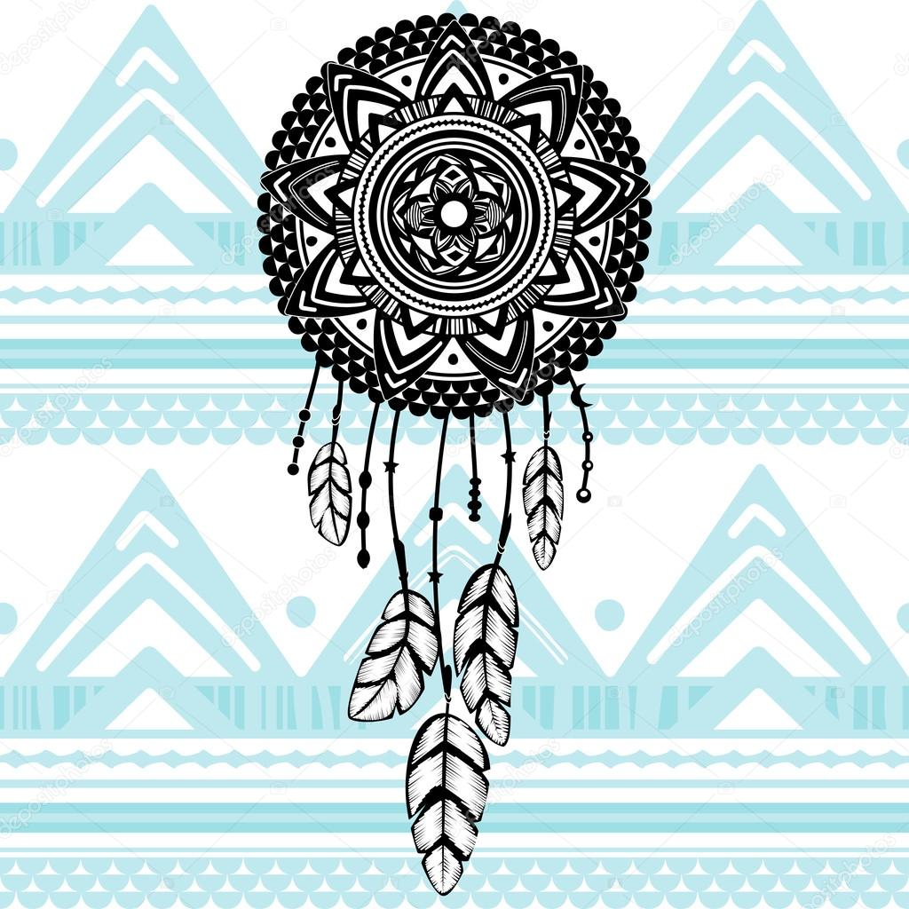 Catcher american indian dreams illustrazione di for Acchiappasogni disegno