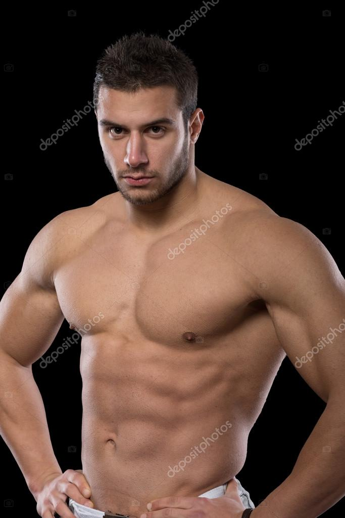 Handsome muscular men. — Stock Photo © SerbBgd #91029714