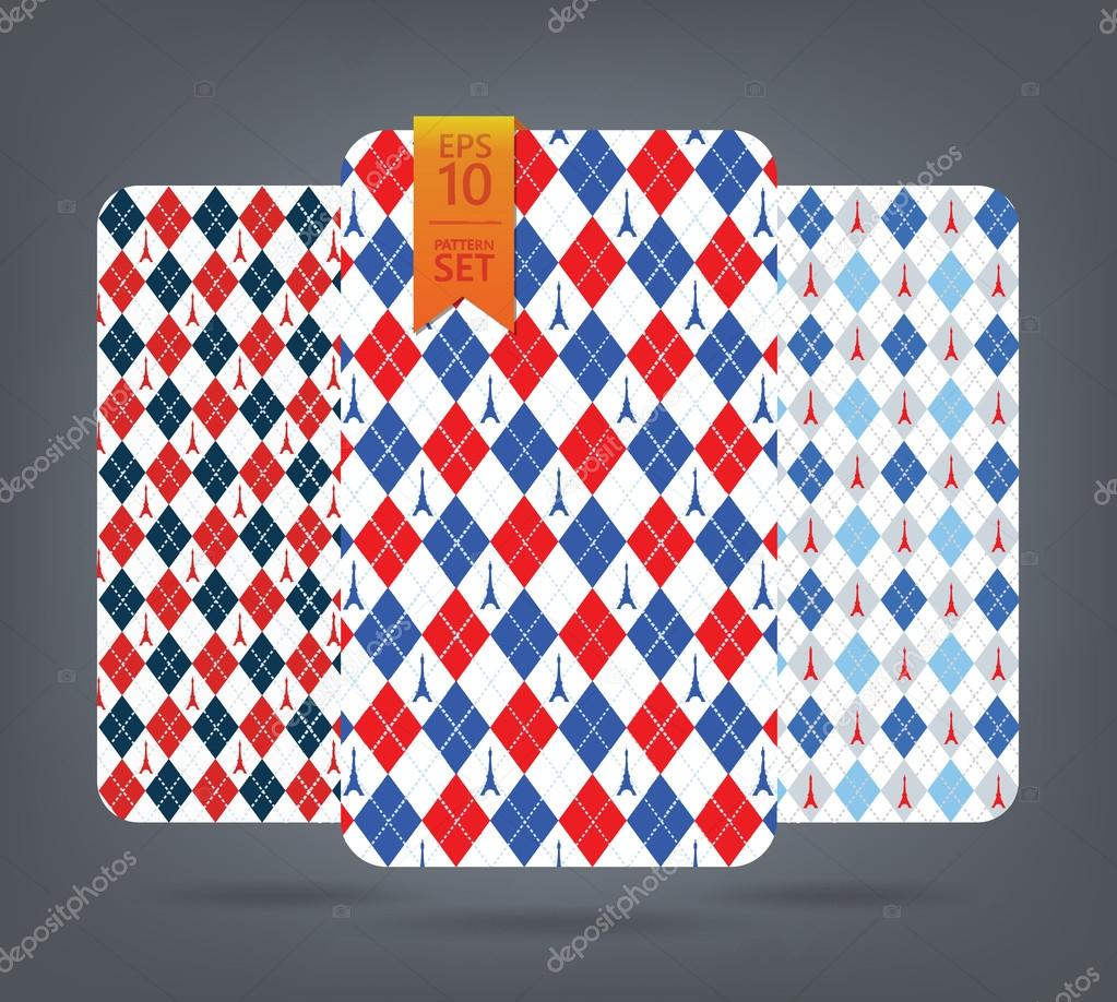 Gmail blue theme - Blue And Red Eiffel Argyle And Chevron Pattern France Theme Background Vector By Konoreyka Gmail Com