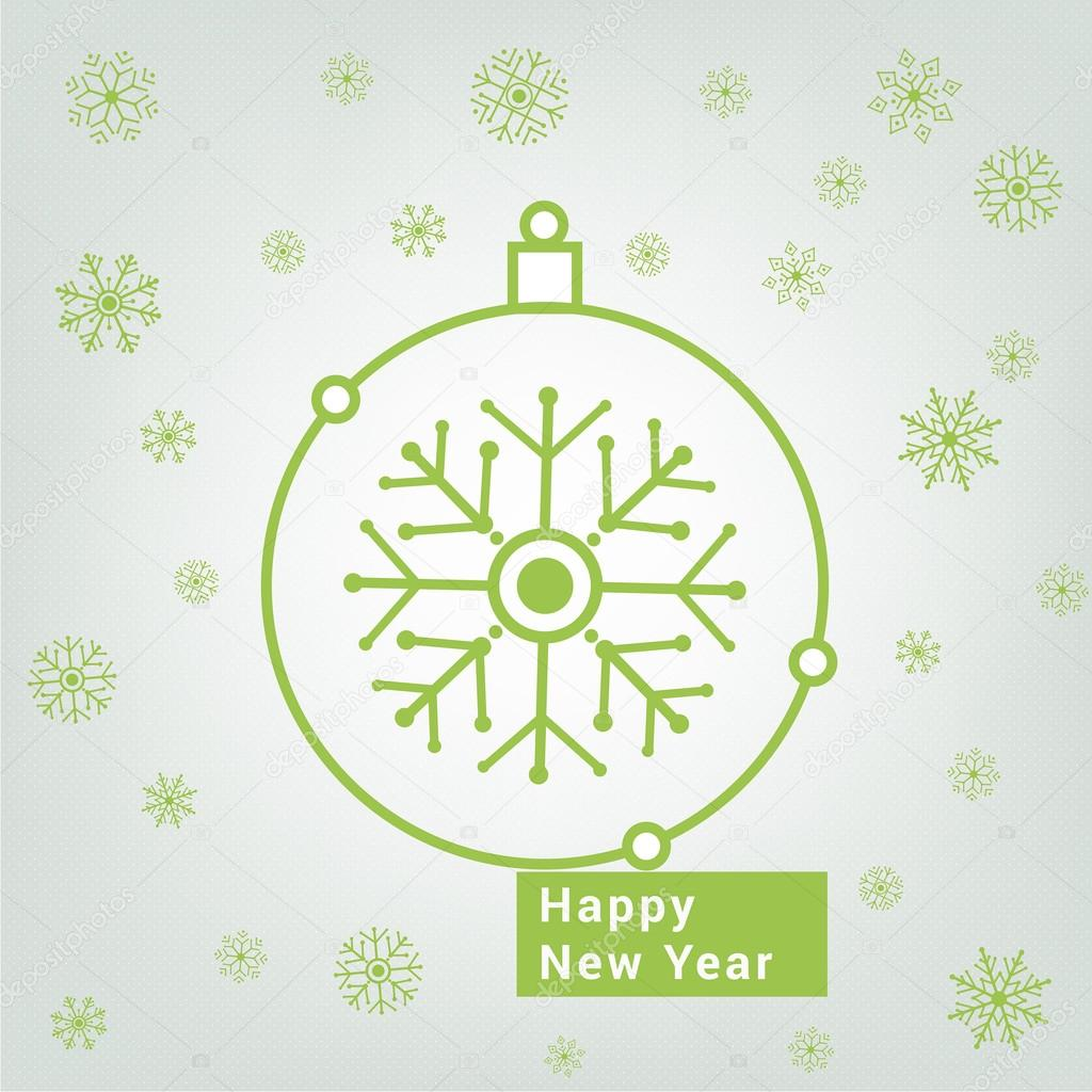 christmas tree toy happy new year greeting card vector by auroomidgmailcom