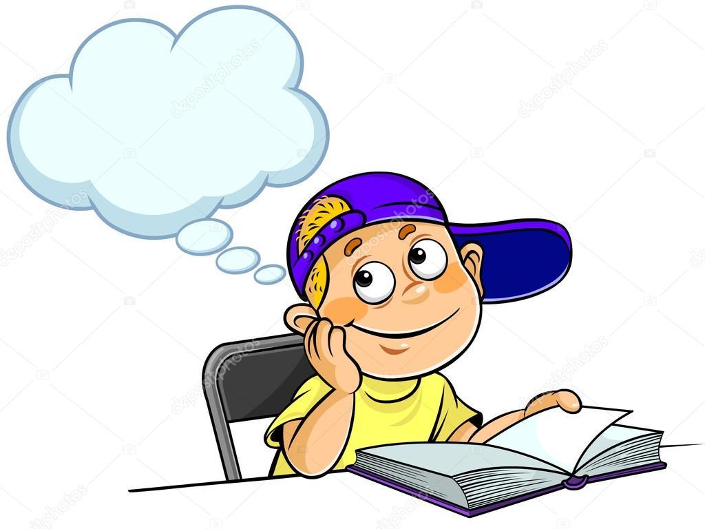 Dibujos Para Colorear De Un Niño Pensando ~ Ideas