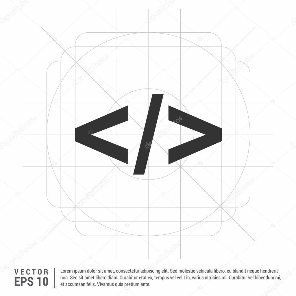programming code icon � stock vector 169 ibrandify 106291946