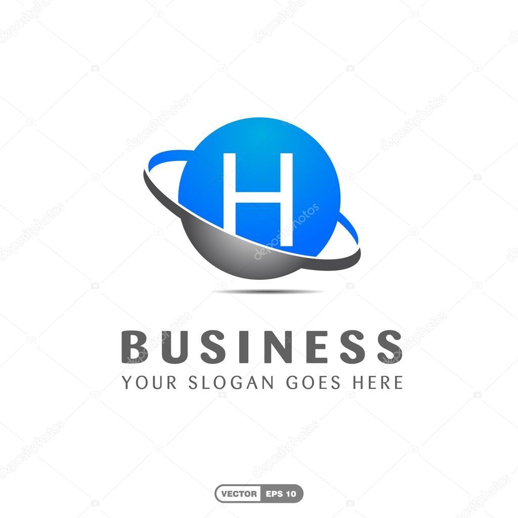 Business Company Letter H Logo Stock Vector C Ibrandify