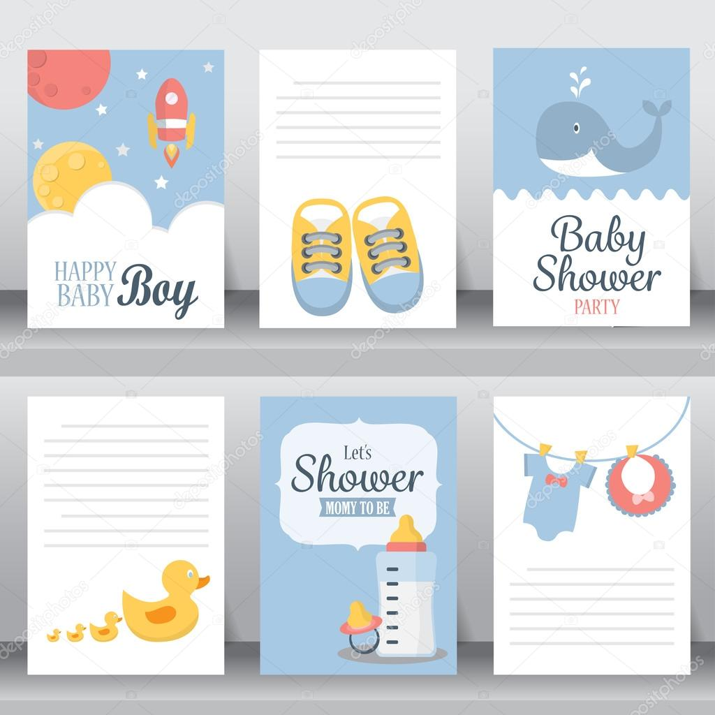 baby shower invitation cards stock vector