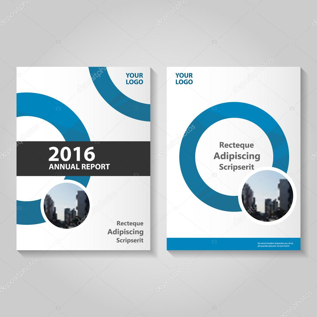 circle blue vector annual report leaflet brochure flyer template circle blue vector annual report leaflet brochure flyer template design book cover layout design abstract circle blue presentation templates stock