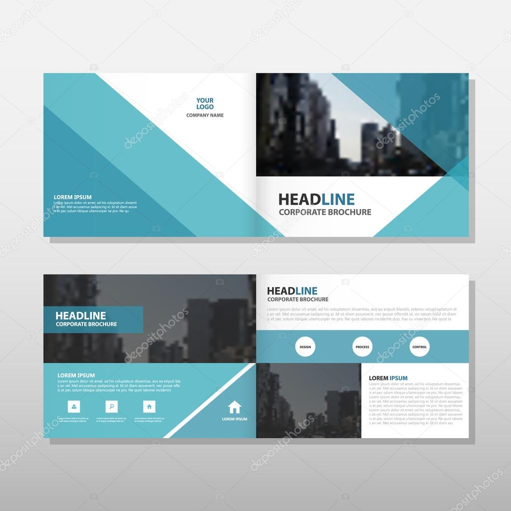 blue triangle business trifold leaflet brochure flyer report tem blue triangle business trifold leaflet brochure flyer report template vector minimal flat design set abstract presentation layout templates a4 size