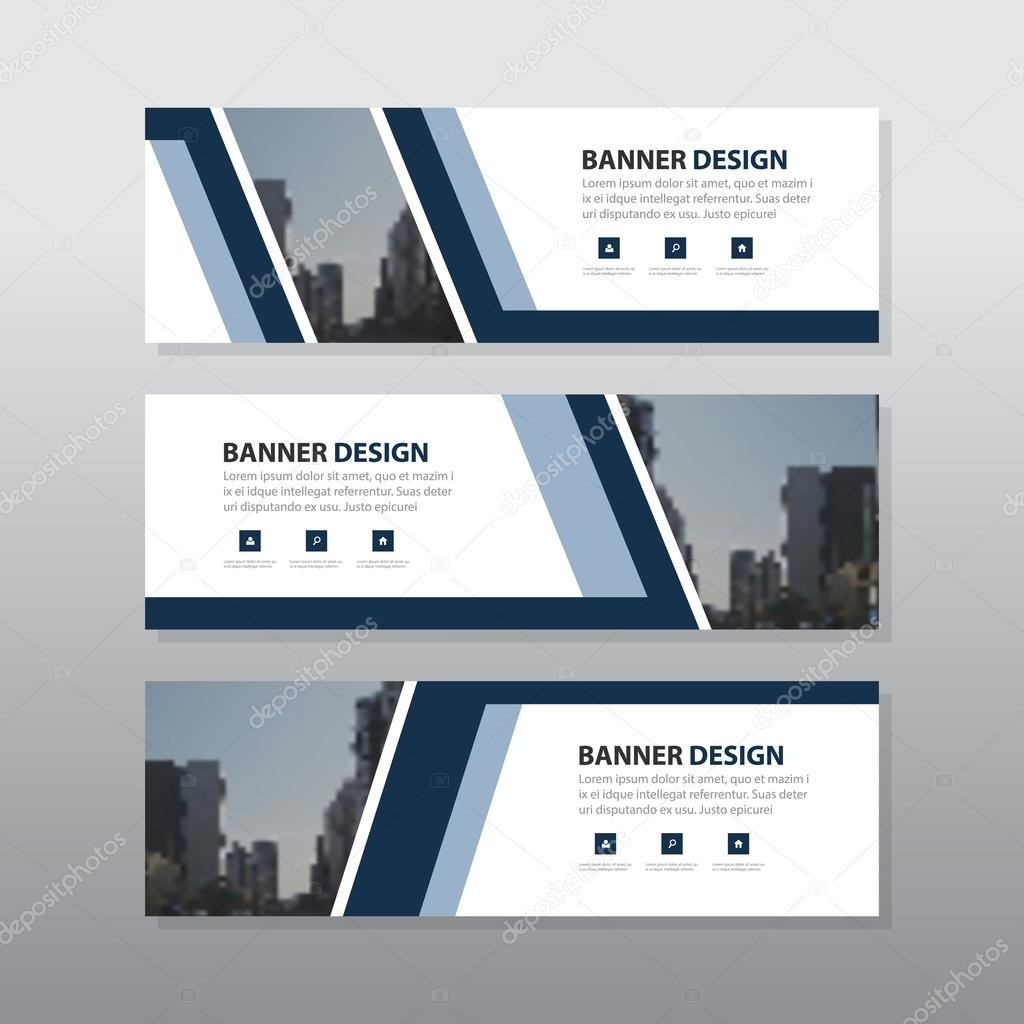 Purple abstract corporate business banner template, horizontal ...