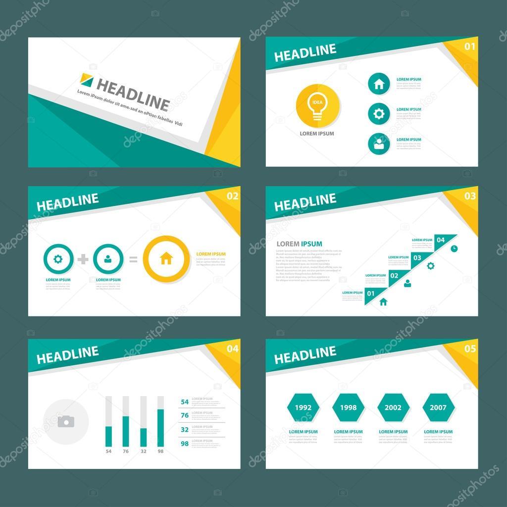 yellow green presentation templates infographic elements flat yellow green presentation templates infographic elements flat design set for brochure flyer leaflet marketing advertising