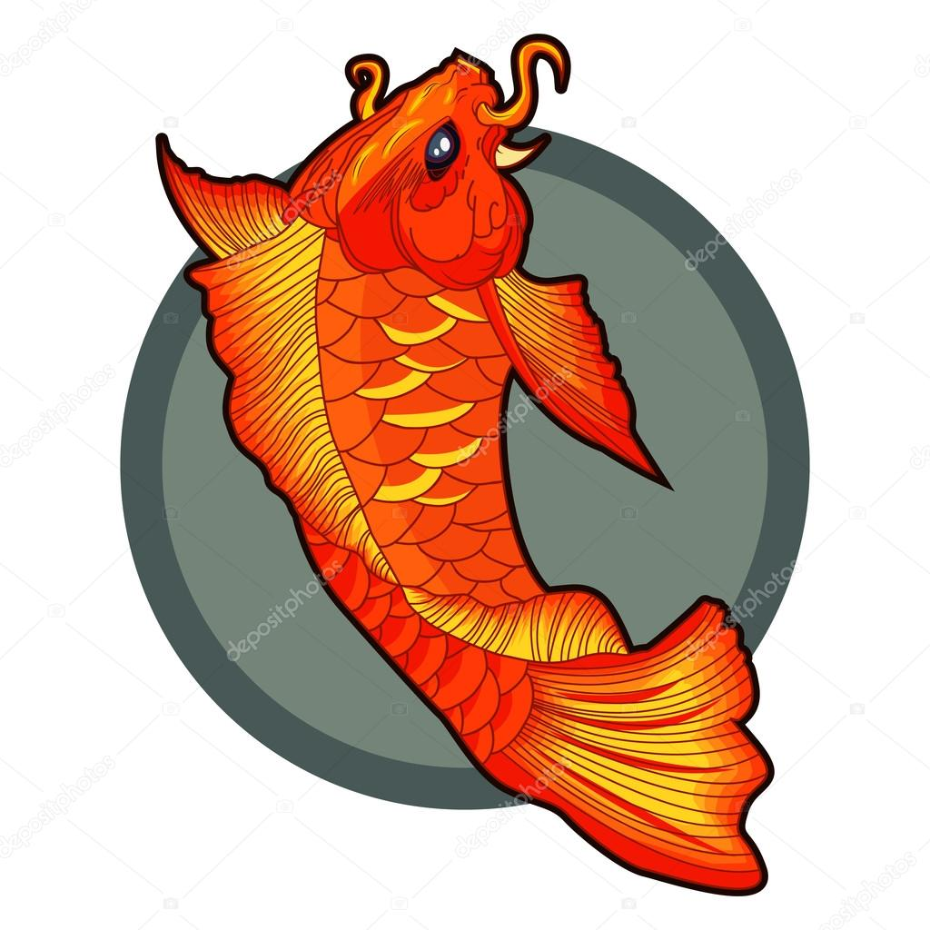 Mano dibuja tatuajes de peces koi ilustraci n de vectores - Peces koi precio ...