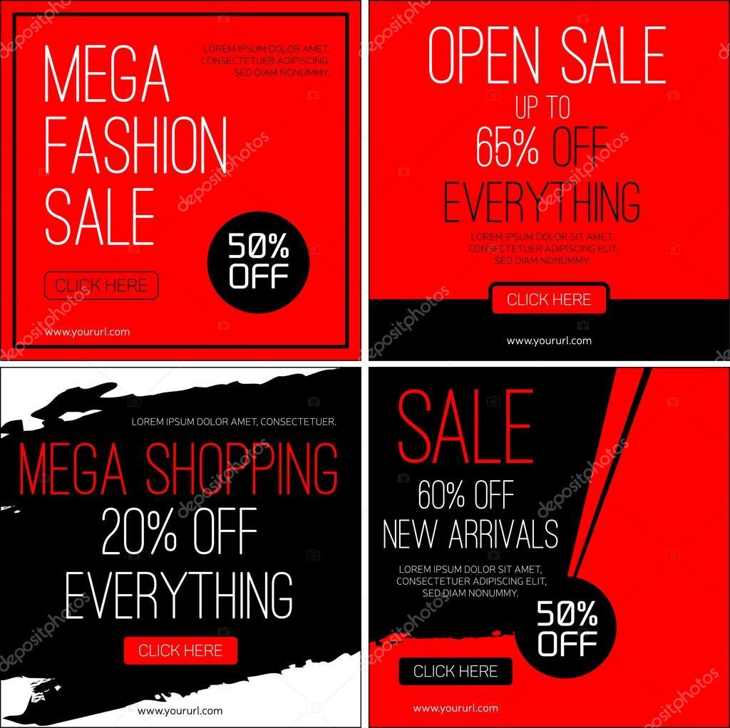 sale instagram banners sales templates black friday sale