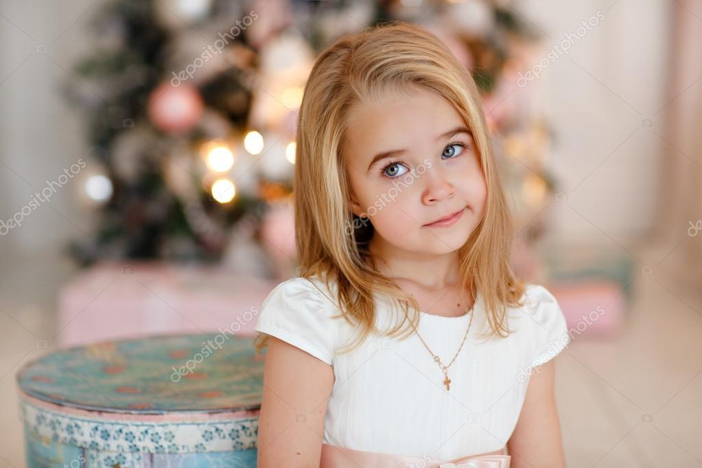 Tiny blond girl