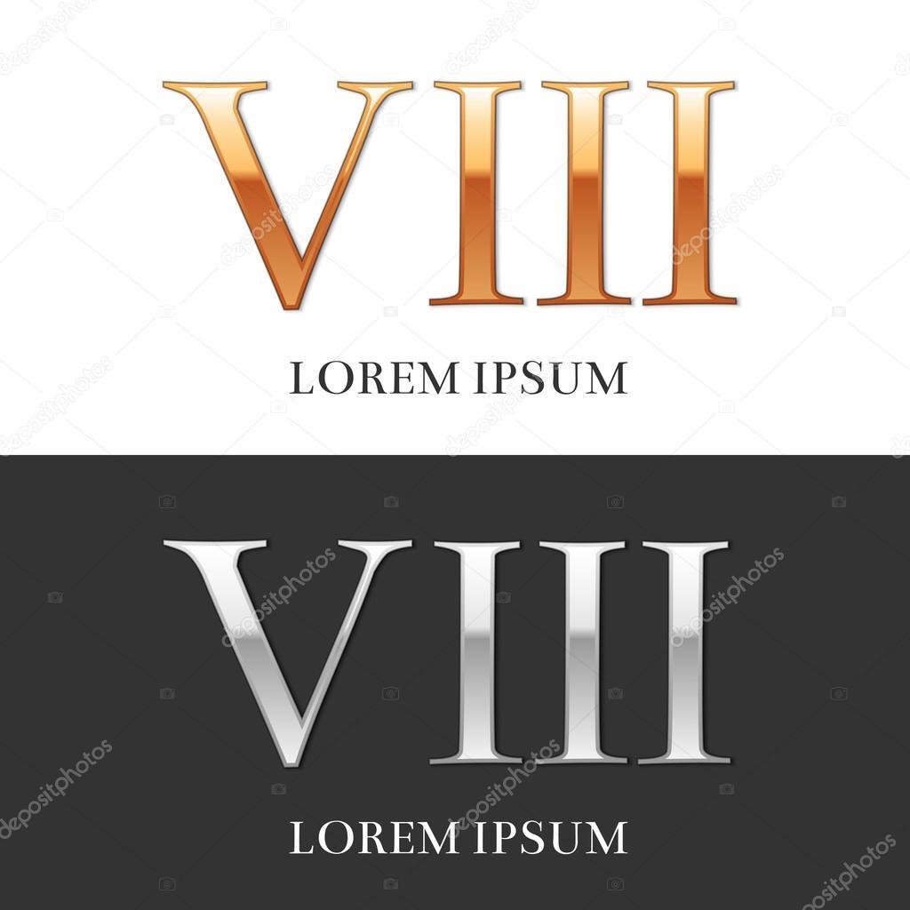 Римские цифры вектор