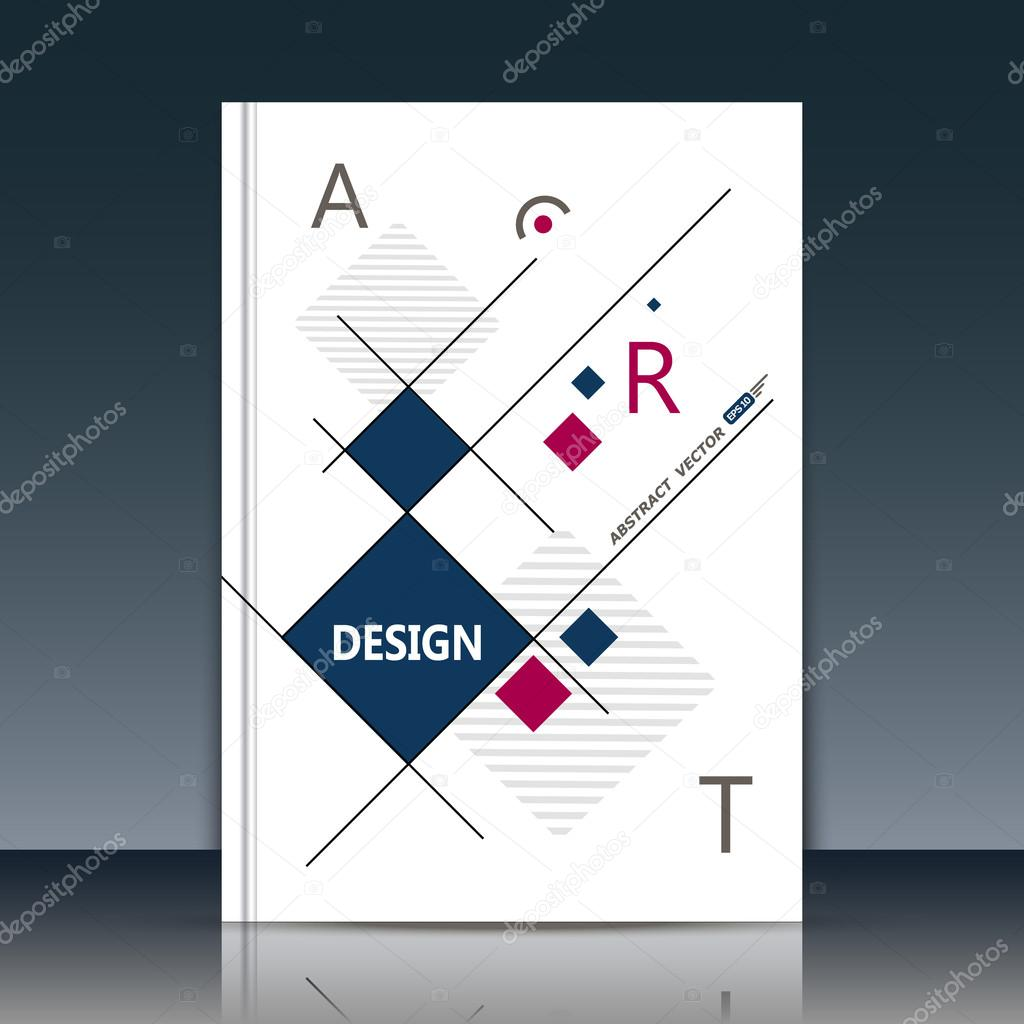 abstract cover annual report cover cover vector cover design business notebook personal diary or official card cover graphic pattern made in mini stic style for corporate production or presentation template