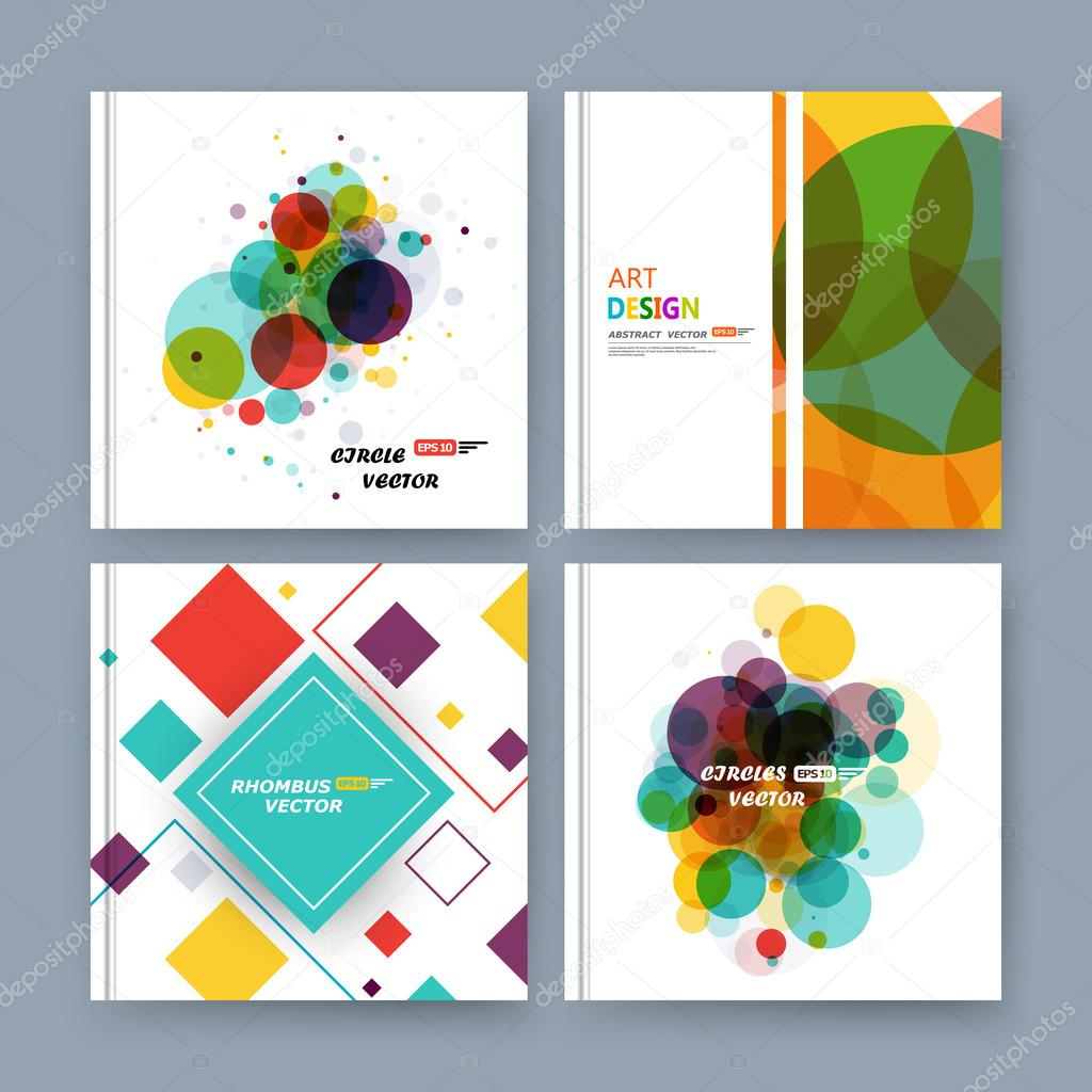 Abstract composition, business card set, info text