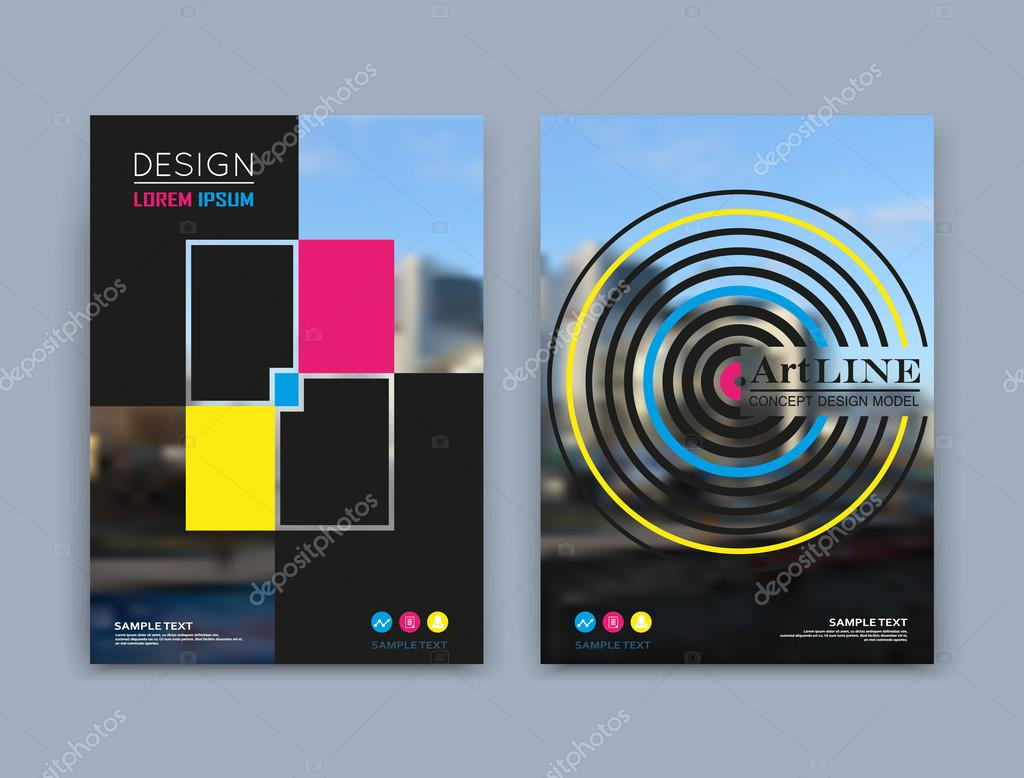 abstract a brochure cover design text frame surface urban city abstract a4 brochure cover design text frame surface urban city view title sheet model creative vector front page ad banner form texture