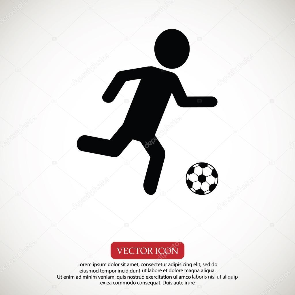 足球,足球球员剪影矢量图– 图库插图