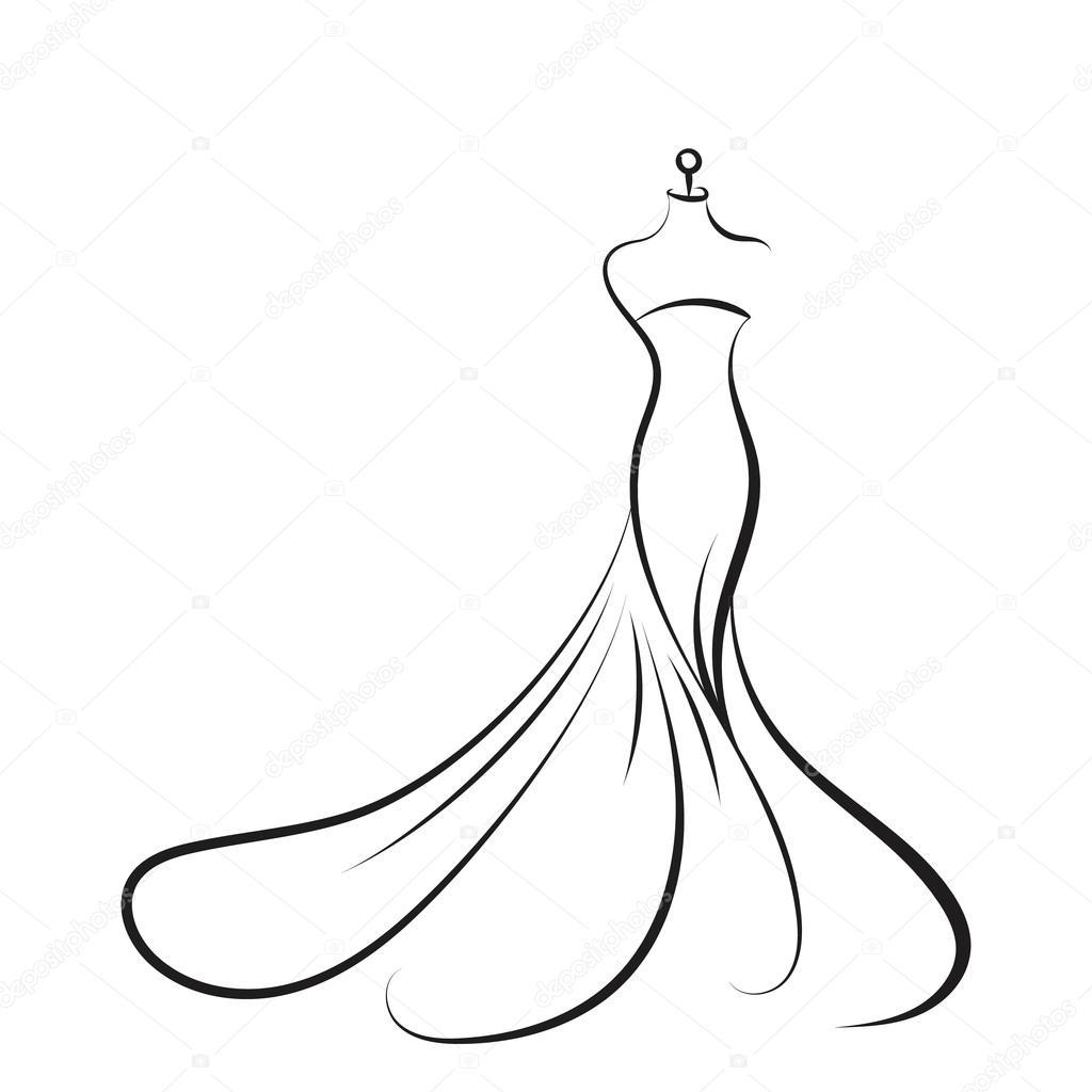 Mão de manequim vestido desenho ilustração vector — Vetor ...