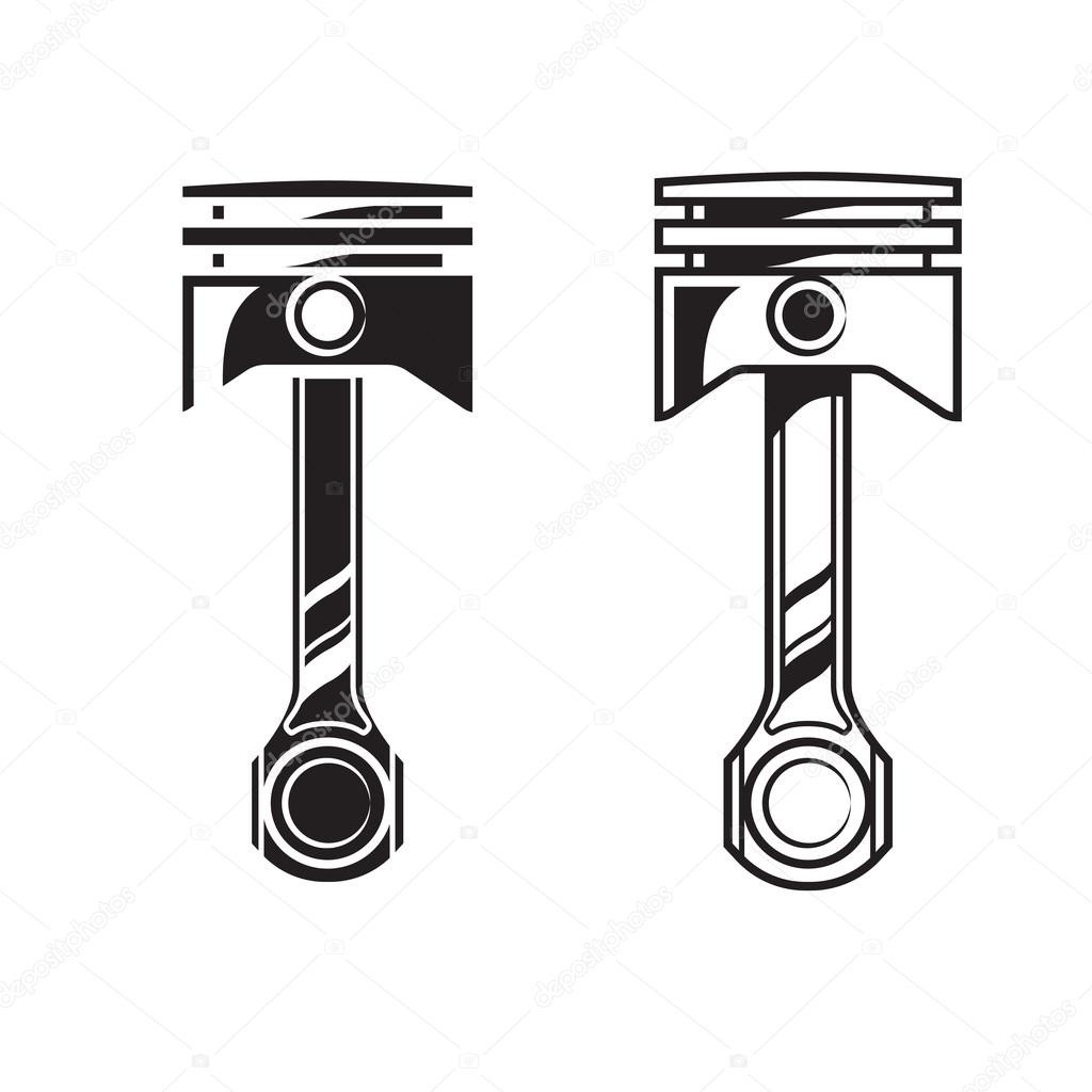 Stock Illustration Vector Car Engine Piston on diesel engine clip art
