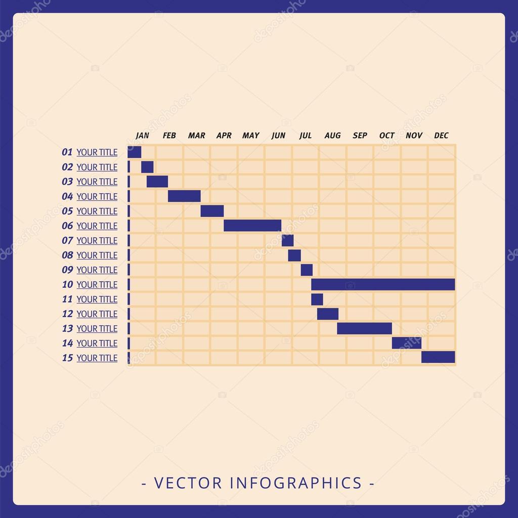 Gantt Chart Template Stock Vector Surfsupvectorgmailcom - Timeline gantt chart template