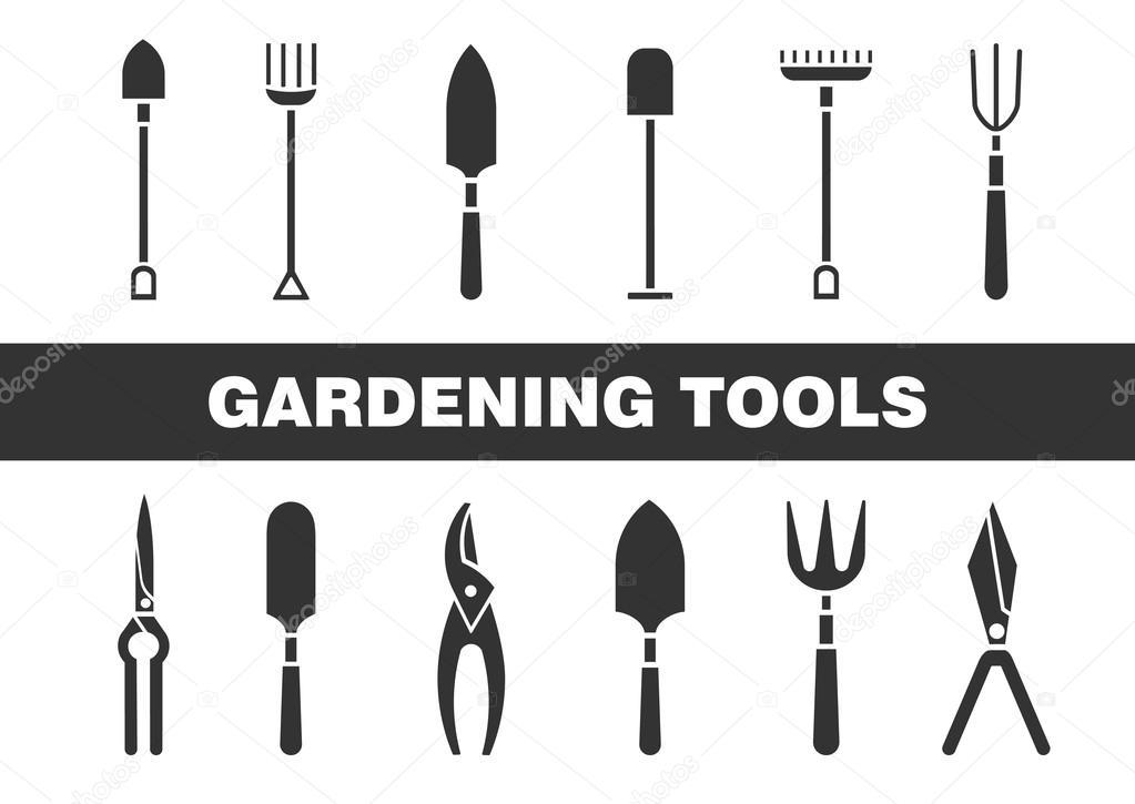 Ensemble d ic nes outils de jardinage conception de for Meilleur site de jardinage