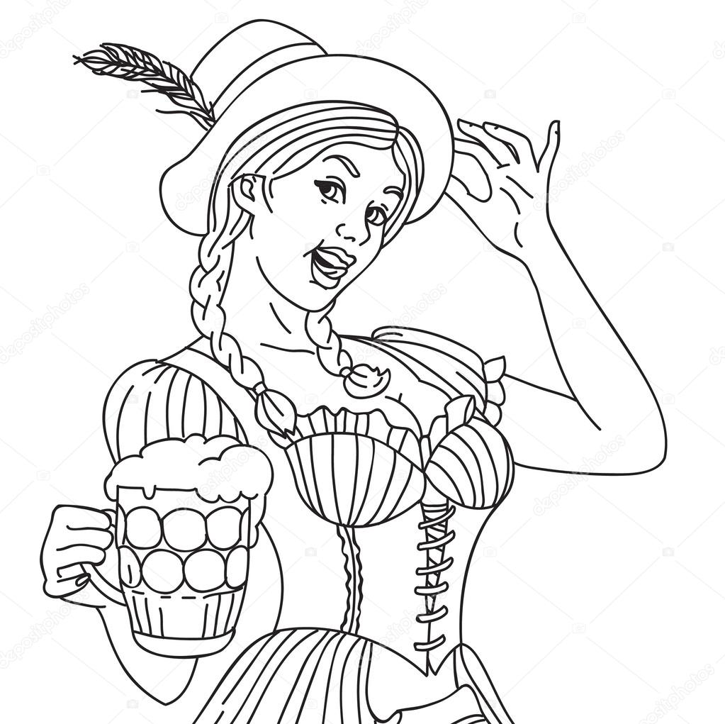 bavarian coloring pages - photo#18
