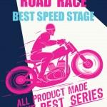 Постер, плакат: Vector race poster