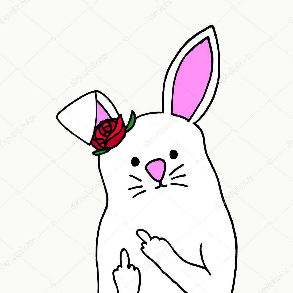 Rabbit cartoon show